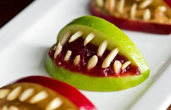 Зубастый десерт на Хэллоуин - идея, 5 фото. Разделы: Еда