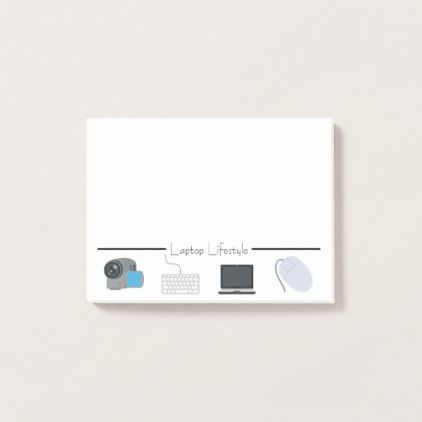 Laptop Lifestyle Emojis Post-it Notes - create your own gifts personalize cyo custom
