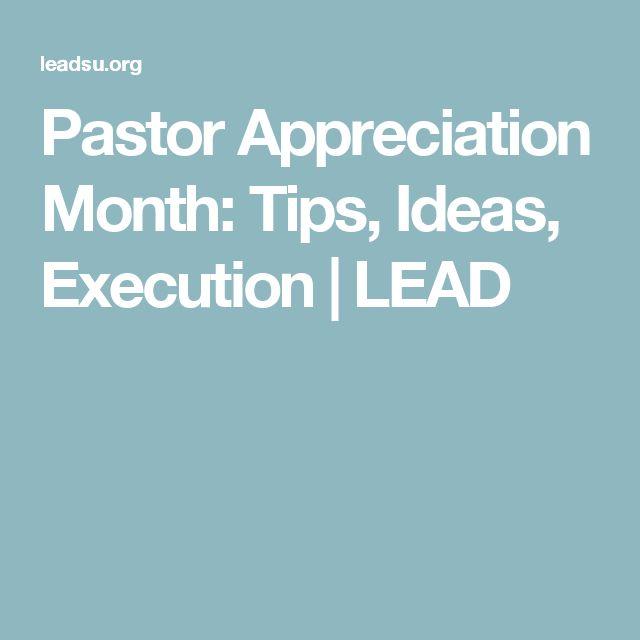 Pastor Appreciation Month: Tips, Ideas, Execution | LEAD