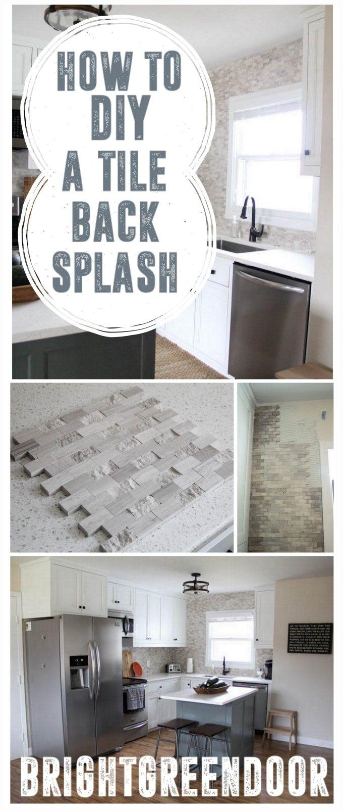 Install a Mosaic Tile Backsplash, How To Install Tile, How to Put up a Backsplash www.BrightGreenDoor.com