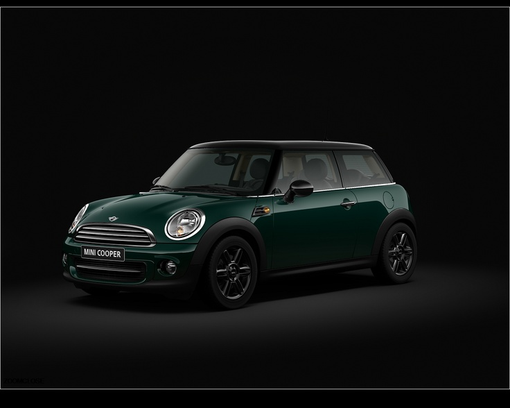 mini cooper - pepper / british racing green. This with a white top or maybe even a mallard yellow top. Camel leather seats