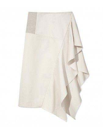 Marni Linen Ruffle Skirt