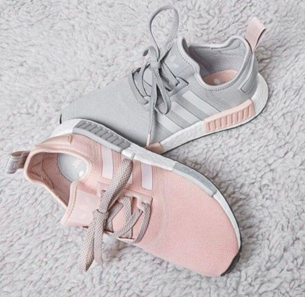 Pink & Grey Adidas NMDs #shoes