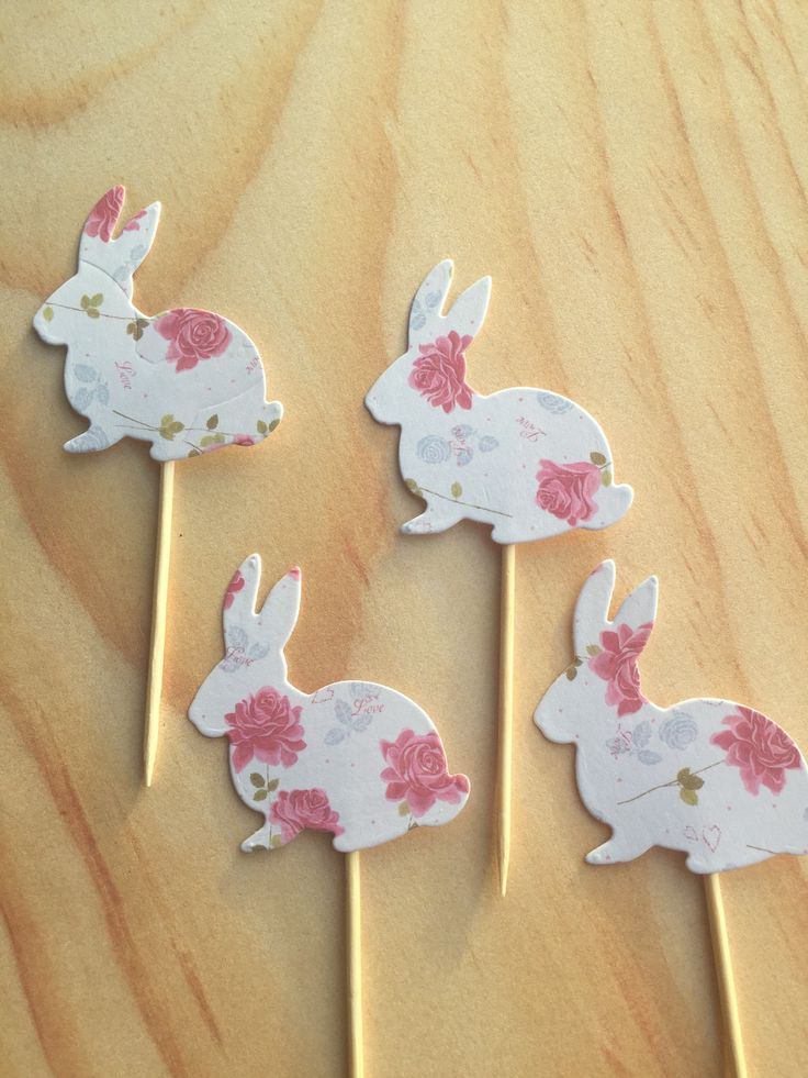 A personal favourite from my Etsy shop https://www.etsy.com/uk/listing/546521117/bunny-rabbit-cupcake-toppers-woodland