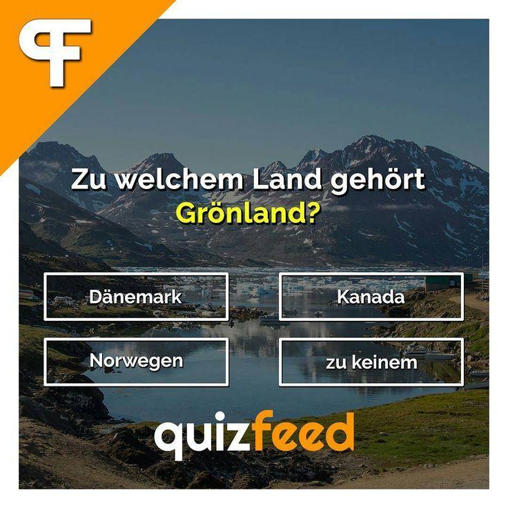 Zu welchem Land gehört Grönland? Dänemark, Kanada, Norwegen, gar keinem Wissen clever verpackt! . #land #länder #grönland #dänemark #kanada #norwegen #reisen #reise #urlaub #norden #kalt #Insel #erdkunde #geografie #rätsel #quiz
