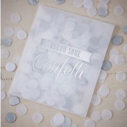 Confetti Envelopes - Silver - A Vintage Affair