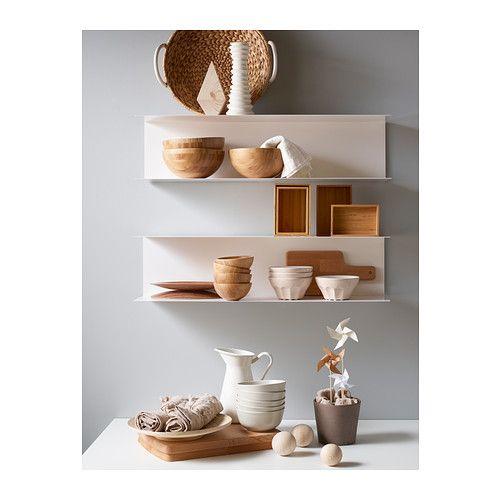 Wandrek Keuken Ikea : White Wall Shelves IKEA