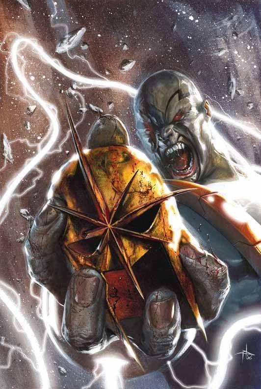Drax, O Destruidor vs. Nova de Gabriele Dell'Otto.