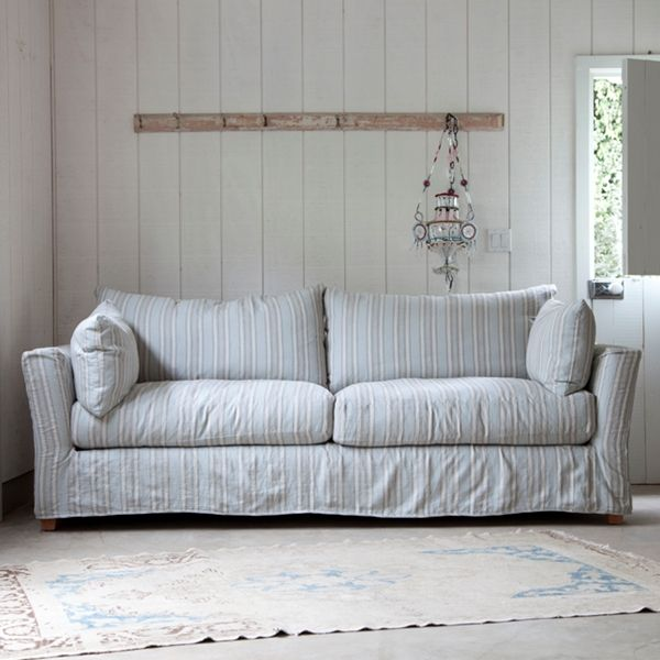 simple sofa rachel ashwell collection shabby chic style inspiration shabbychic shabby. Black Bedroom Furniture Sets. Home Design Ideas