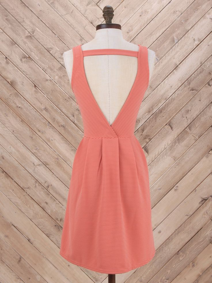 Altar'd State Classic Cutie Stripe Dress- classic style with a surprise plunging back!
