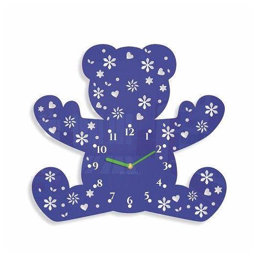 Detske nastenne hodiny v tvare medvedika