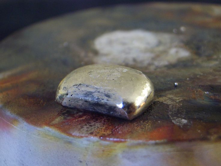 One lump of platinum ready to make a beautiful engagement ring with.