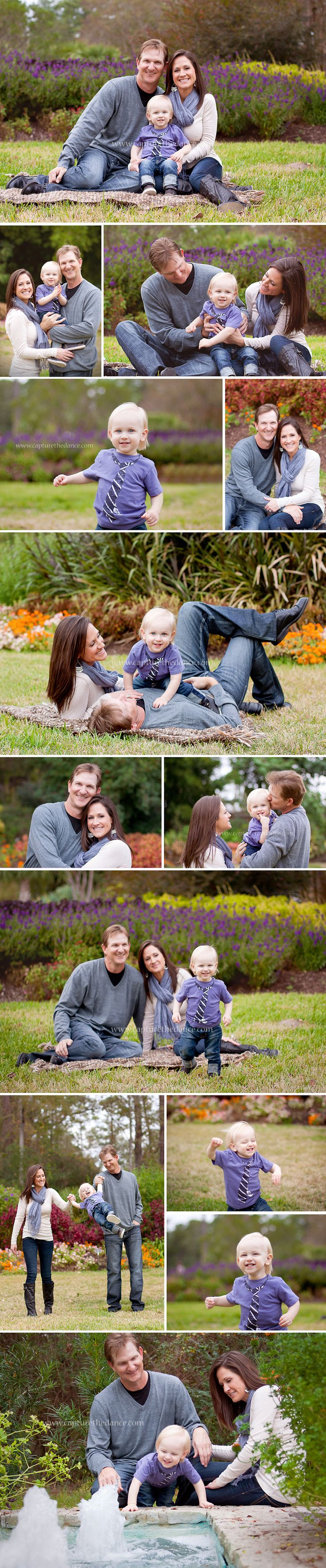 The Woodlands Family Portraits -  Capture the Dance Photography  Natural light outdoor family pictures, parents with their toddler boy
