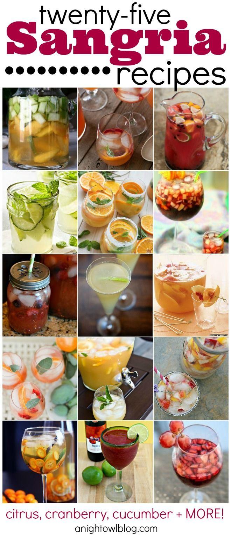 25 Sangria Recipes | #summer #drinks #sangria #recipes