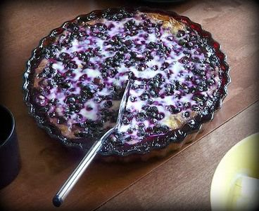 Finnish Blueberry Pie (Mustikkapiirakka) This is an authentic Finnish Recipe. Although it's called berry pie, it's actually more like cake. Mustikkapiirakka has a batter base, not a pastry crust & It's very delicious! Not to sweet, but has a fresh clean taste. This dessert is typically served as an afternoon treat, along with a scoop of ice cream, and a good strong cup of coffee. YUM!.