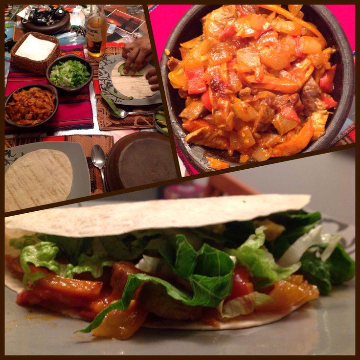 Tacos d cerdo y verduras :)