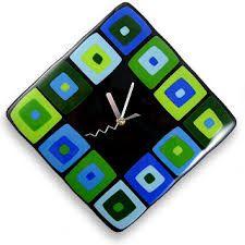 fused glass clock - Google Search