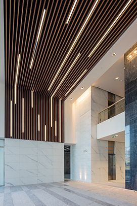 Energy Center 4 in Houston - Hunter Douglas Metal Ceilings