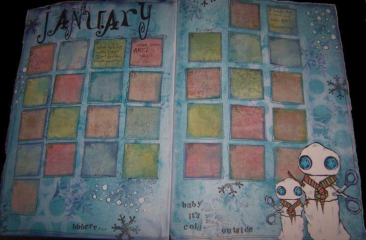 Art Journal Calendar Pages : Best journal calendar pages images on pinterest