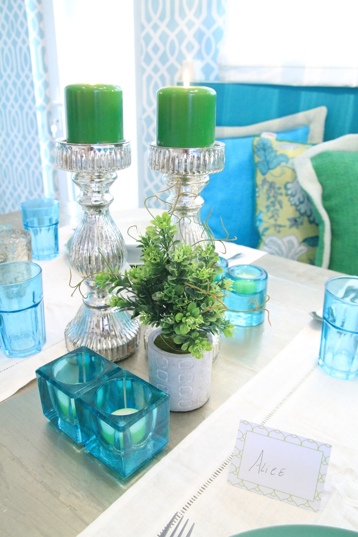 Morocan Inspired Kitchen - Project by Ana Antunes for House Makeover Show - Turquoise, green, canovas pillows
