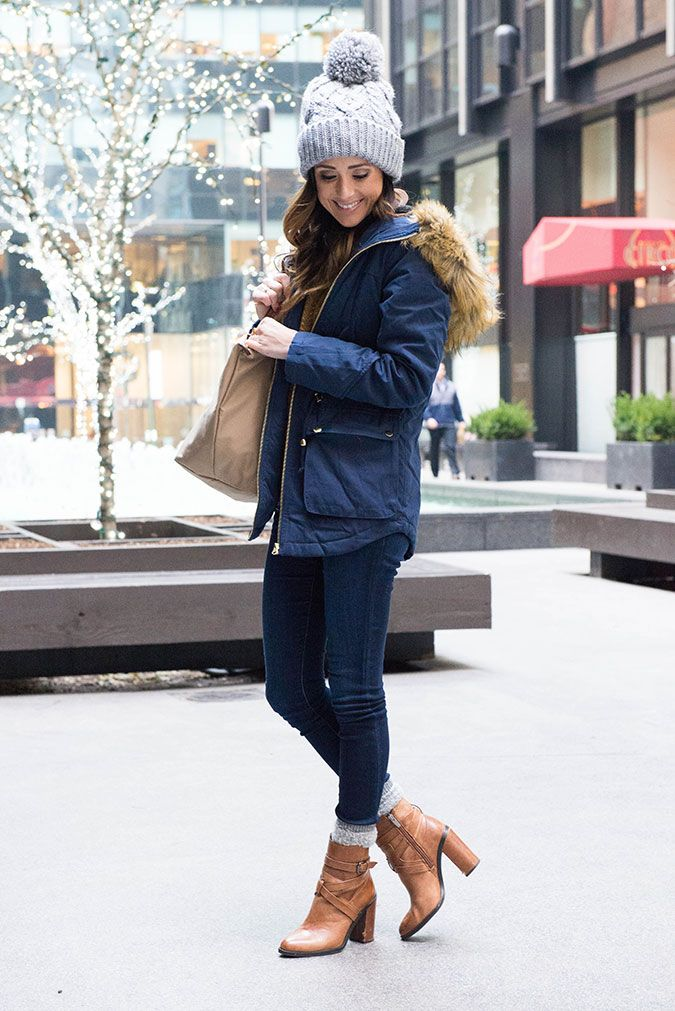 I wore this outfit on our last day in New York City for a few meetings. It was a littlechilly in the morning, so my favorite blue parka added just enough warmth, and cuteness, to the outfit. I was so surprised by how hot it got by the afternoon, though. It was almost 65! It's so crazy how hot it's been so far this December. Yesterday, in Florida, it was in the low 80's. I'm...