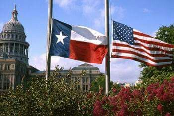 Every day. But today, at half mast for the Police Officers killed in ambush in Dallas last night. May they all Rest in Peace and Honor.  I pledge allegiance to the flag of the United States of America, and to the republic for which it stands, One Nation Under GOD, indivisible, with liberty and justice for all.