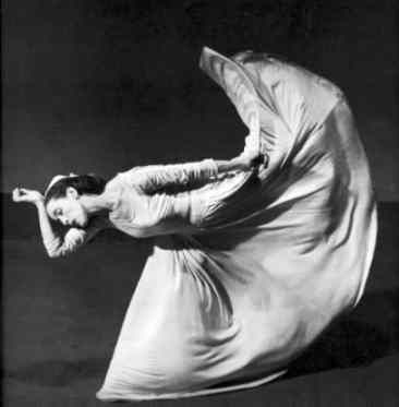 """No, this is Martha Graham doing her famous """"Kick"""". There is no resemblance whatsoever with Duncan..."""