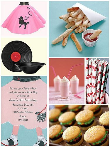 Cute 50's Stuff...http://blog.finestationery.com/2011/03/50s-sock-hop-party.html