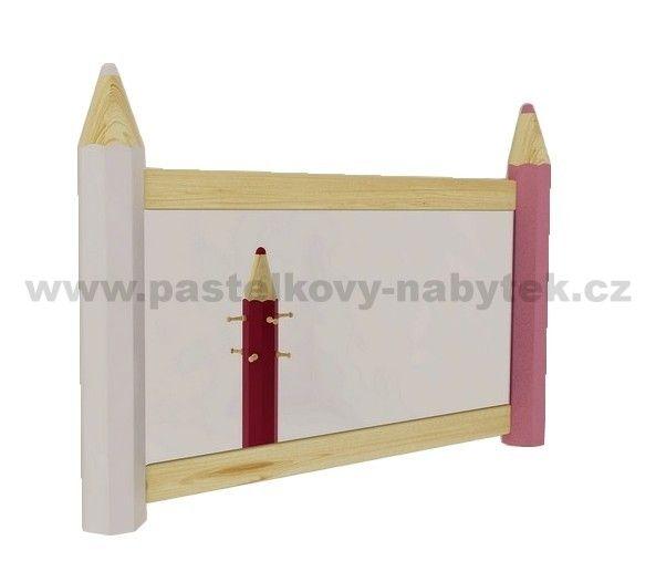 Zrcadlo dívčí - horizontální | Dětský dřevěný nábytek - BOB nábytek