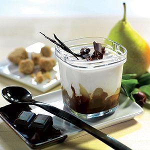 Délice vanille, poire chocolat, un véritable classique qui compose ce yaourt