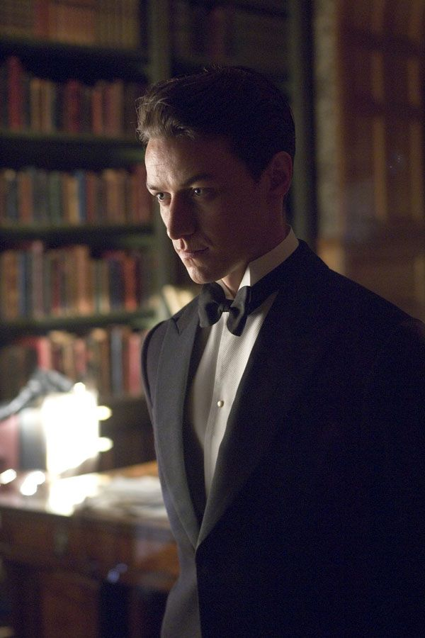 James McAvoy in Atonement--cannot be trusted in a library