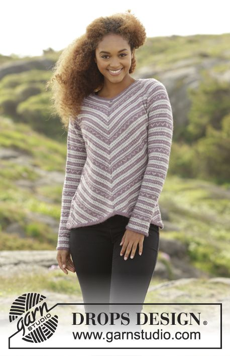 From my Angle jumper with pattern by DROPS Design. Free #knitting pattern