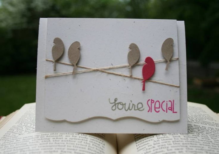 2012-May-15-You_re-special_by_thePaperPerch: Die Cut, Bird Cards, Paper Smooches, Memories Box, Cards Birds, Card Ideas, Birds Paper, Card Inspiration
