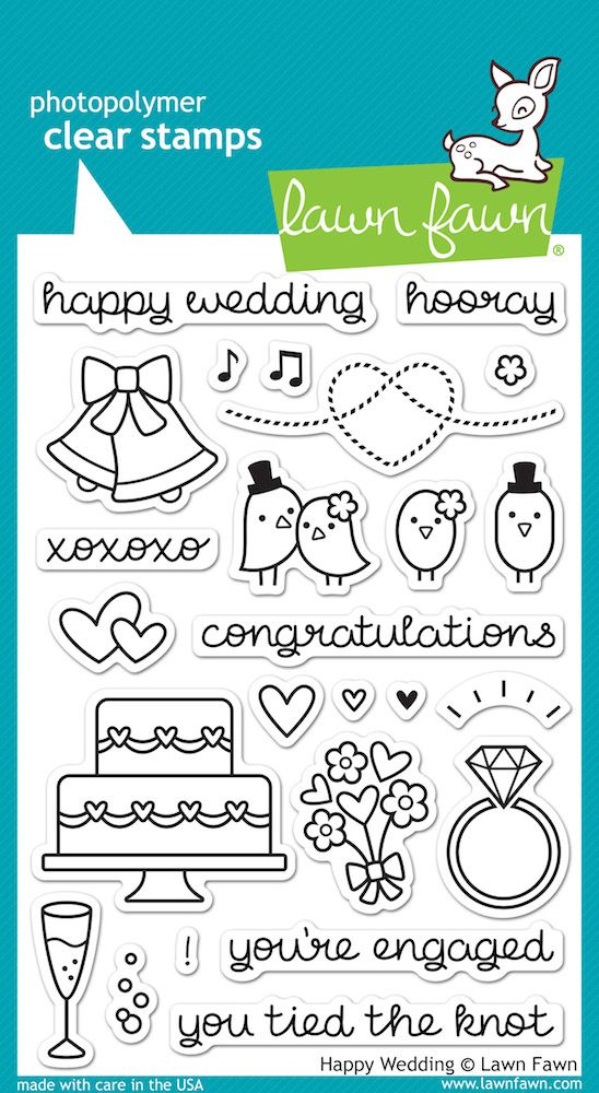Lawn Fawn Happy Wedding Clear Stamps