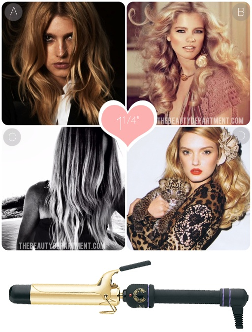 """How to use a 1 1/4"""" curling iron. Has tips on using all curling iron sizes"""