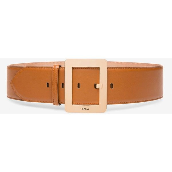 Bally BELLE BELT 55mm Women's plain calf leather fixed belt in tan ($385) ❤ liked on Polyvore featuring accessories, belts, bally belt, leather belts, tan belt, buckle belt and tan leather belt