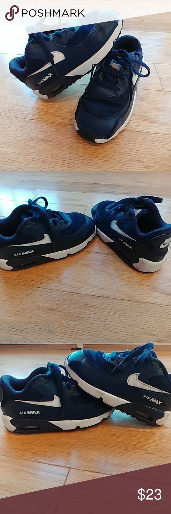 Little boy Nike Air Max Boys Nike Air Max dark navy blue size 9C Nike Shoes Sneakers