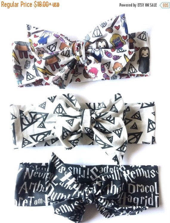 Harry Potter bundle harry potter baby baby bow by Mimiandruby