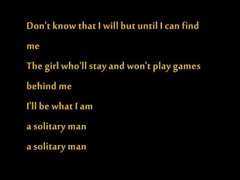 Johnny Cash - Solitary Man.