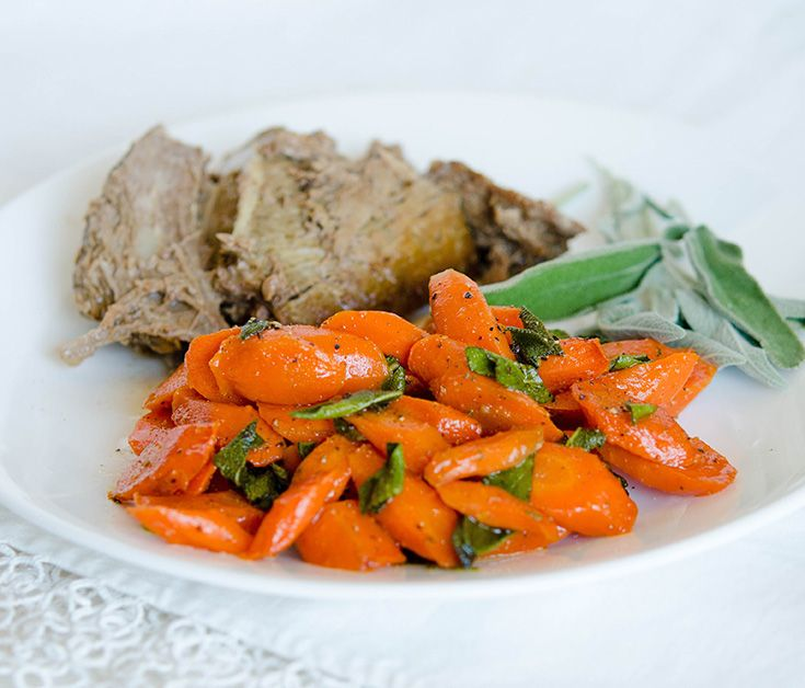 Sauteed Carrots with Sage via @onceamonthmeals
