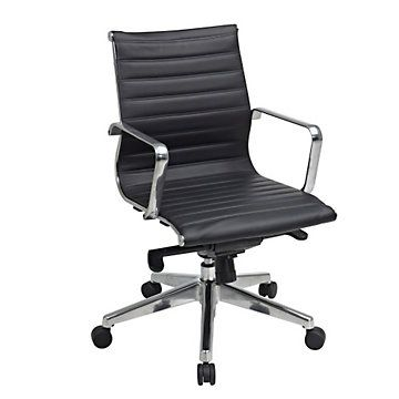 Modern mid back task chair office star
