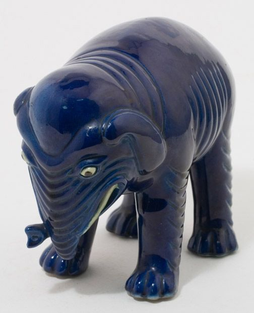 Blue Elephant by Anonymous (Chinese Sculpture)