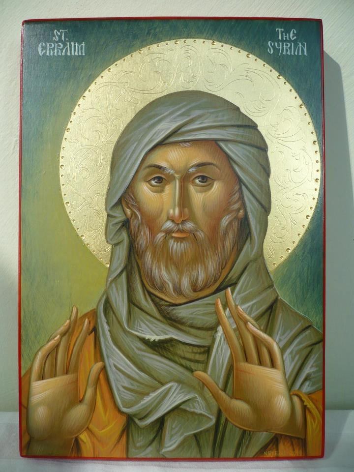 'Blessed the one who has become a good ploughman of the virtues and raised a harvest of fruits of life in the Lord, like a ploughed field bearing wheat.' St. Ephrem of Syria Wow! Beautiful icon...