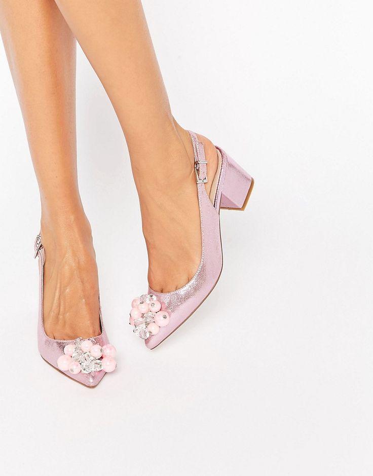 Image 1 - ASOS - SHIMMER - Chaussures à talons avec ornements et bout pointu