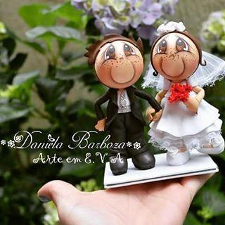 Mini casal - Disponível para venda #casamento #noivas #diadanoiva #topodebolo…