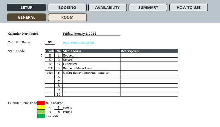Hotel Room Booking Template Excel | Templates, Room ...