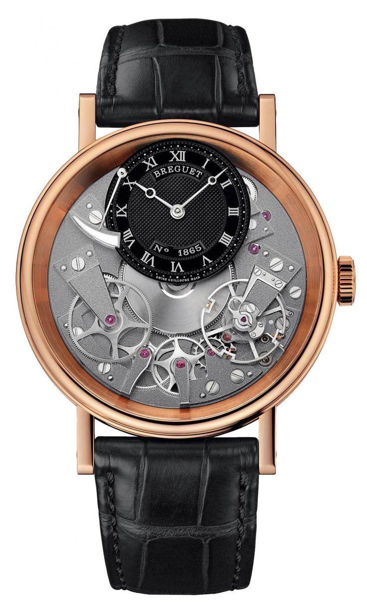 Breguet 7057BR/G9/9W6 Tradition Power Reserve. #Breguet - золотые - швейцарские мужские наручные часы