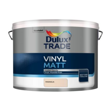 Dulux Trade Trade Magnolia Vinyl Matt Emulsion Paint 10L: Image 1