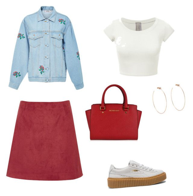 """Untitled #59"" by petricaiacob on Polyvore featuring Ksenia Schnaider, River Island, MICHAEL Michael Kors, Puma and Diane Kordas"
