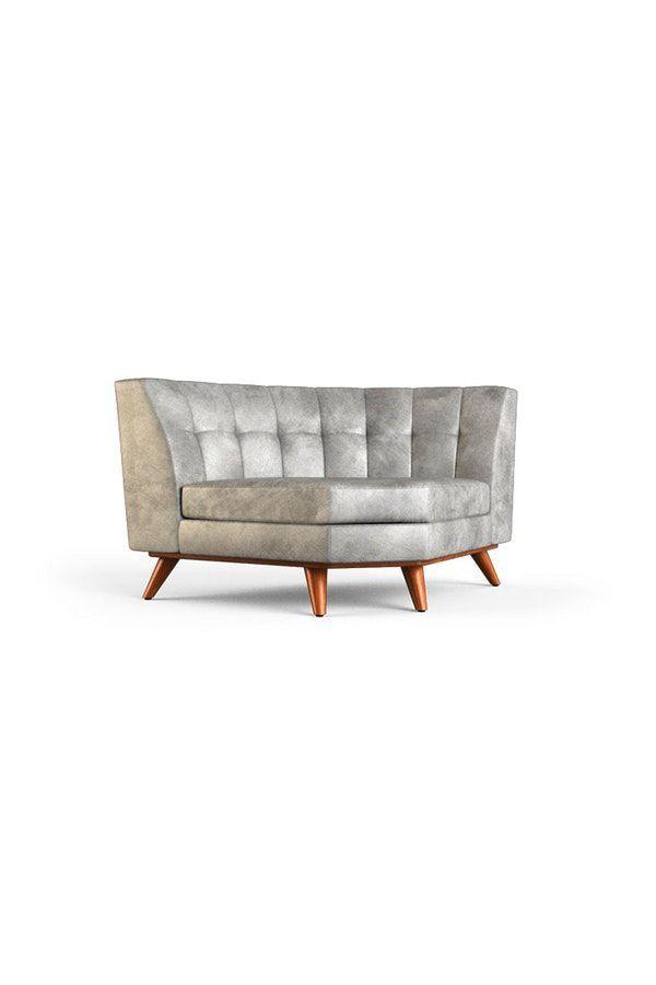 Hughes Leather Round Corner Chair #RoundChair
